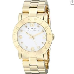 Marc Jacobs Amy Crystal Accented Watch